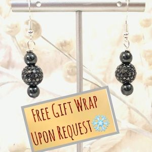 Frontrow.style Jewelry - Sterling Silver Earrings Hematite & Crystal